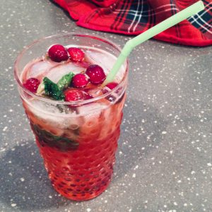 Festive Cranberry Mojitos