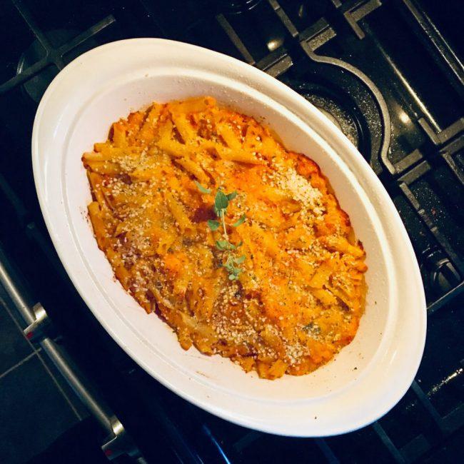 Gluten-Free Baked Pasta with Butternut Squash, Sausage & Ricotta
