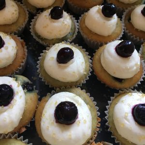 Gluten-Free Blueberry Lemon Poundcake Cupcakes