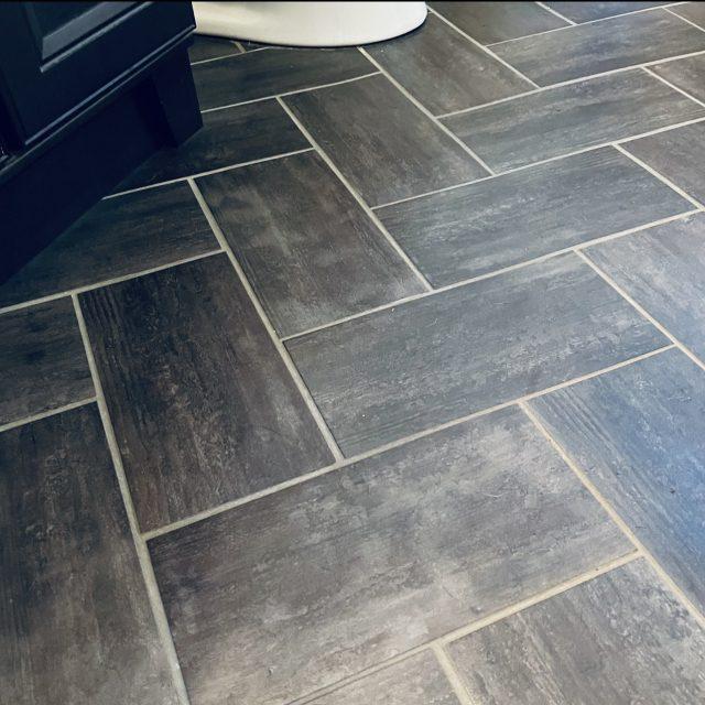 Herringbone Linoleum Floor 2+ years after installation